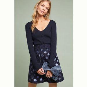 Anthropologie Sequin Mini Skirt